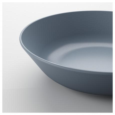 Тарелка глубокая ДИНЕРА серо-синий фото 1