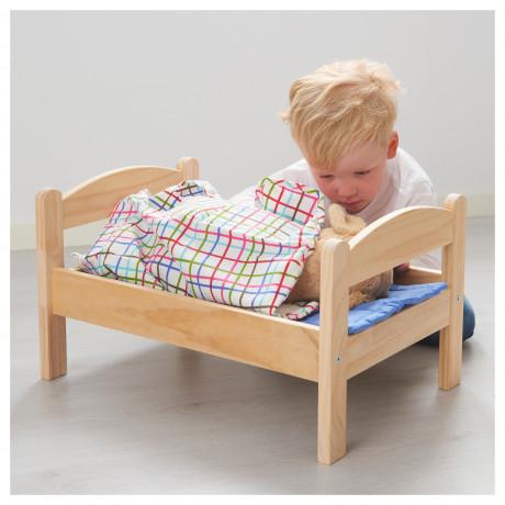 Куколн кровать с компл пост белья ДУКТИГ сосна, разноцветный фото 1