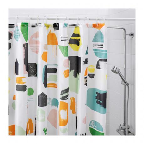 Штора для ванной ДОФТКЛИНТ разноцветный фото 4