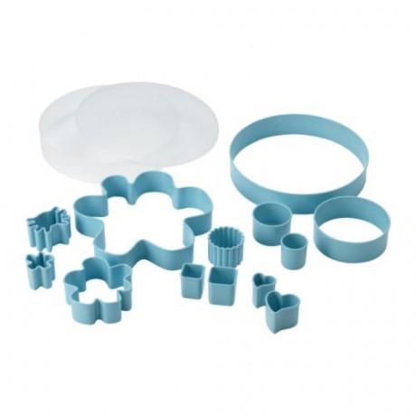 Набор формочек для печенья, 14 шт ДРОММАР голубой фото 0